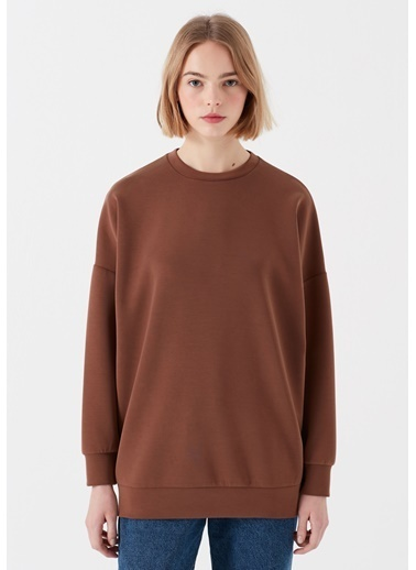 Mavi Lux Touch Kahverengi Modal Sweatshirt Kahve